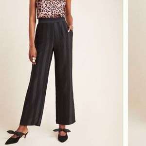 NWT Harlyn Anthropologie black striped trousers